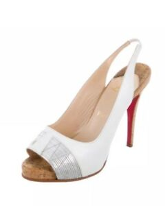 brand new 0ae98 01bd6 Details about christian louboutin White/silver Sandal 40