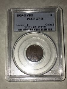 1909-S-VDB-PCGS-XF45-1C-Lincoln-Cent-Wheat-Ears-Penny-very-good-details