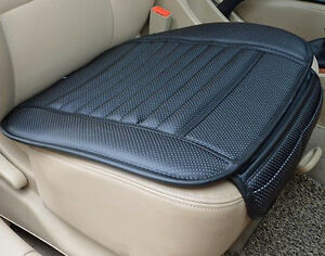 Universal-PU-Leather-Black-Bamboo-Charcoal-Auto-Car-Office-Chair-Seat-Cover-Pads