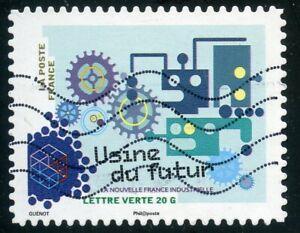 Efficace France Autoadhesif Oblitere N° 1057 France Industrielle / Usine Du Futur DernièRe Technologie