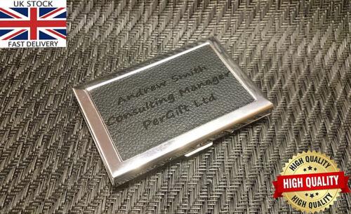 Laser Engraved Business Metal ID Credit Card Pocket Holder Case Wallet Box Gift