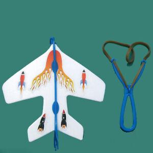 BH-Flashing-LED-Slingshot-Airplane-Aircraft-Launcher-Glider-Plane-Kit-Kid-Toy-E