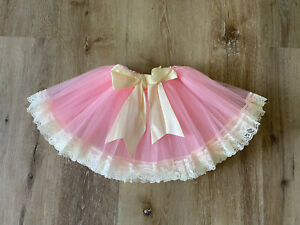 NEW-pink-Baby-Lace-Tutu-Skirt-With-Bow-0-2-Years-USA-SELLER
