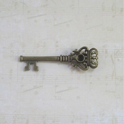 Old look new antique vintage skeleton keys 12 in 3 colors 3 inch key oval heavy