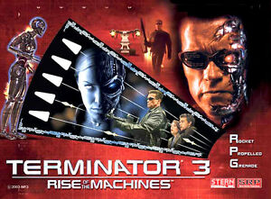 T3 TERMINATOR 3, SOPRANOS, LORD OF THE RINGS Pinball Cabinet light mod RED