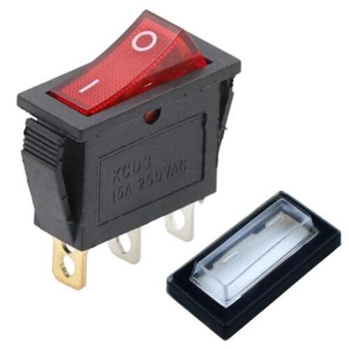 ✅ Bascule Interrupteur Commutateur 3 Broches 250 V//20 a DEL ON//OFF 27x10mm SPST ✅