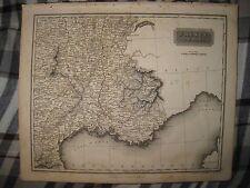 ANTIQUE 1817 SOUTHEAST SOUTH FRANCE ARROWSMITH DATED MAP WINE REGION INTEREST NR