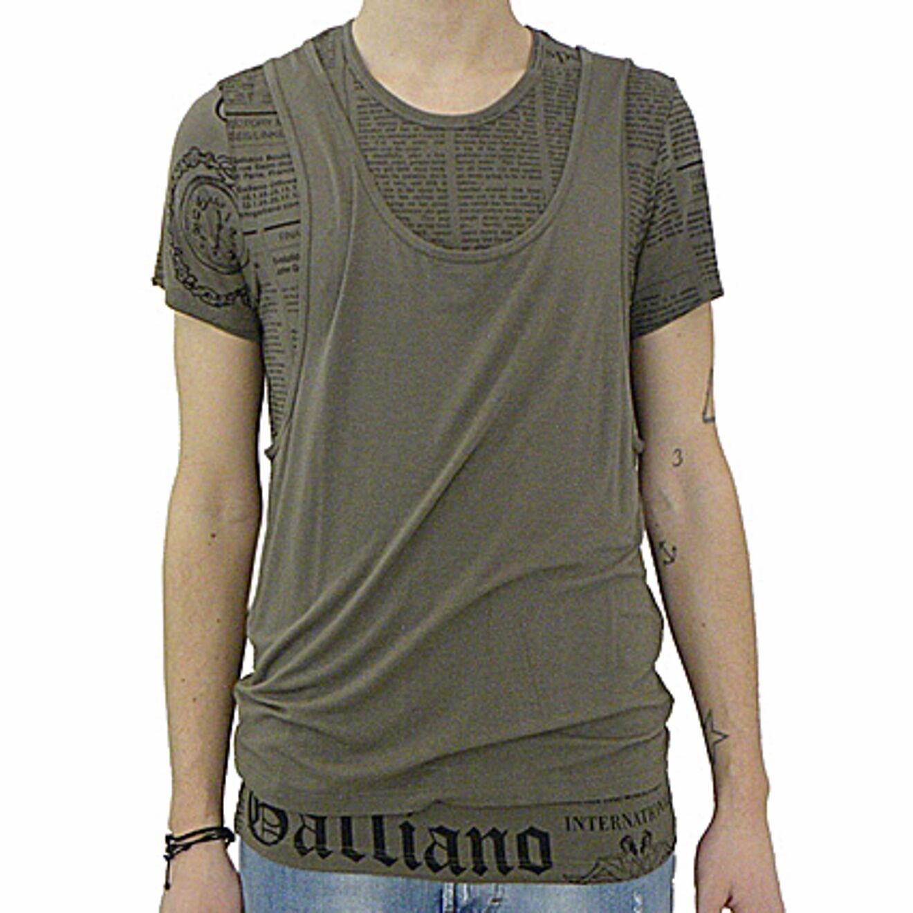 John Galliano T-Shirt + Muskelshirt Zeitung, T-Shirt + Tank Top Zeitung
