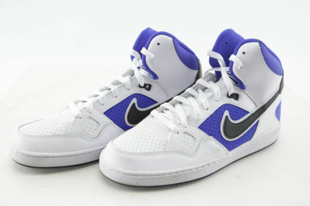 e642f93bce3984 Nike Son of Force Mid Top Men s Athletic Shoes White Black Race Blue 616281