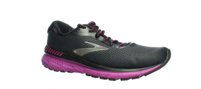 Brooks Womens Adrenaline Gts 20 Ebony/Fuchsia Running Shoes Size 10 (1352748)