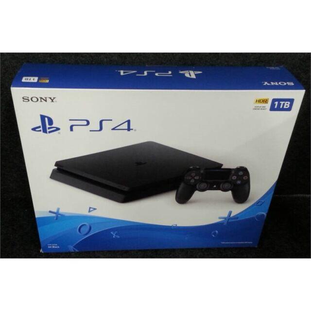 Sony CUH-2215B PS4 Slim Game Console 1TB Jet Black Worn Box