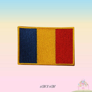 Romanian National Flag Embroidered Iron On Patch Sew On Badge