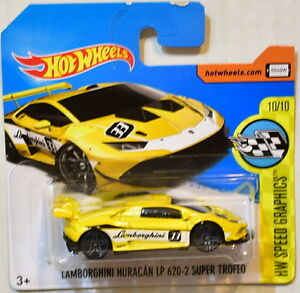 hot wheels 2017 lamborghini huracan lp 620 2 super trofeo short card ebay. Black Bedroom Furniture Sets. Home Design Ideas