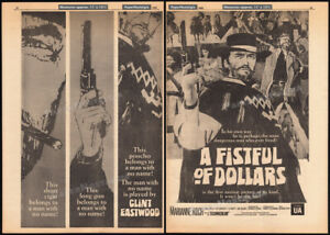 A-FISTFUL-OF-DOLLARS-Original-1966-Trade-print-AD-promo-poster-CLINT-EASTWOOD