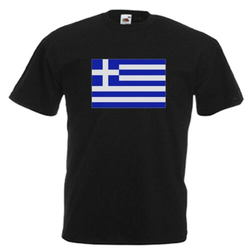 GREECE FLAG EMBLEM T-SHIRT ALL SIZES /& COLOURS