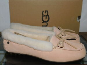 5e48aec01da Details about NEW NIB WOMENS SIZE 11 AMBERLIGHT UGG SOLANA SHEEPSKIN SUEDE  LOAFERS SLIPPERS