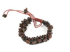 Carved rosewood  bead  Bracelet, Norse, Celtic.