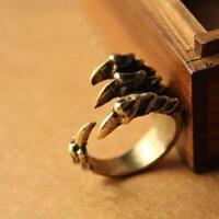 Fashion Punk Vintage Bronze Ring Retro Eagle Bird Claw Talon Halloween Rings