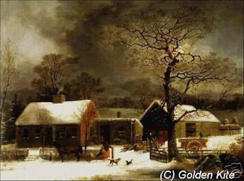 #539 Winter Scene in New Haven 60/% Off Golden Kite Counted X-stitch chart