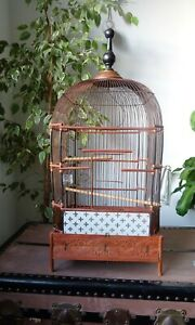 superbe grande Cage à Oiseaux architecturale art nouveau
