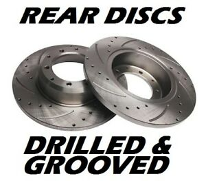 PEUGEOT-306-HDi-XSi-GTi-6-D-Turbo-TD-Drilled-amp-Grooved-Brake-Discs-REAR