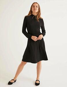 Boden-Kleid-Alice-Jersey-Dress-Jerseykleid-Schwarz-Taschen-NEU-UK-8-L-EU-36