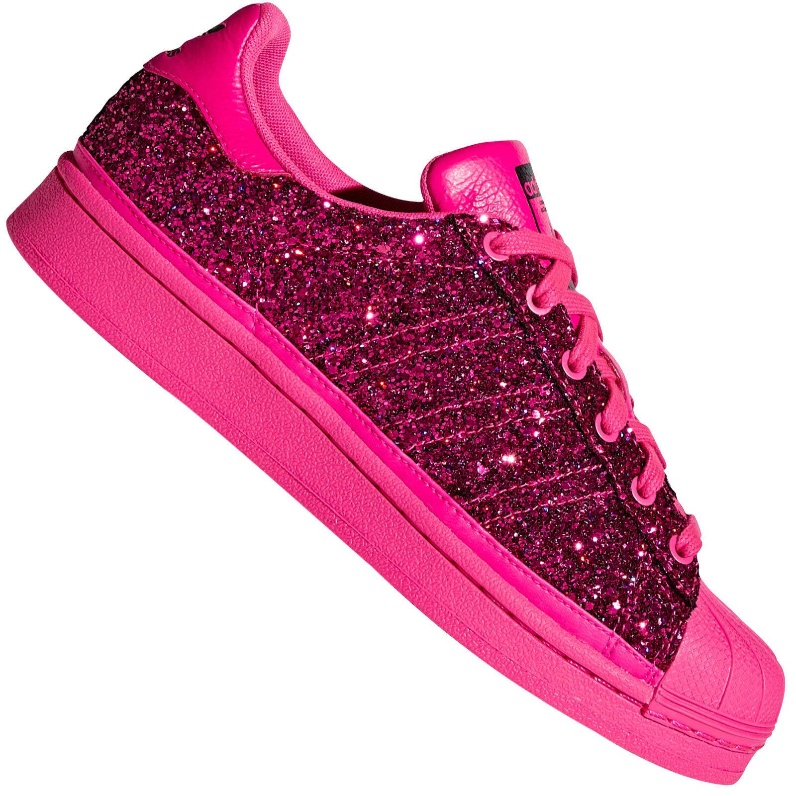 Adidas Originals Superstar baskets Femmes Chaussures De Sport bd8054 paillettes rose