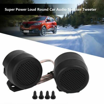 2 Pairs High Performance 500W Super High Frequency Mini Car Tweeters