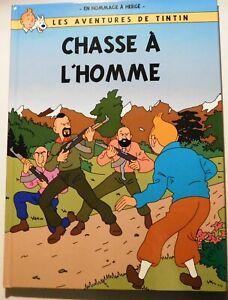 PASTICHE TINTIN - CHASSE A L'HOMME. Album cartonné 40 pages couleurs. 2020