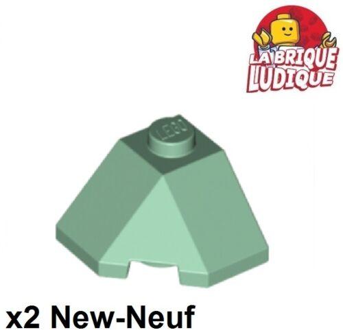 Baukästen & Konstruktion LEGO Bau- & Konstruktionsspielzeug Lego 2x Wedge 2x2 Steigung 45 corner grün Hell/sand 13548 neu