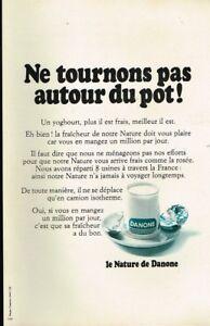 L- Publicité Advertising 1970 Dessert yaourt Nature de Danone