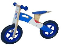 Kiddicars wooden balance bike running bike scooter available in 2 designs