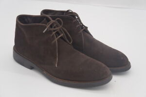 Hugo Boss Boheme Suede Chukka Boots, Men's Size 8, Brown made in Italy..