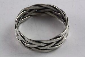 Aus Dem Ausland Importiert Bandring Celtic Kelten Geflochten Biker Ring 925 Silber Silberring / 026