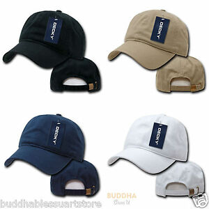 1 Dozen DECKY Two Ply Polo Washed Heavy Cotton 6 Panel Dad Hats Cap ... 5d231c4ce222