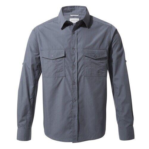 Craghoppers Kiwi Herren Outdoorhemd Langarmhemd Funktionshemd ombre blue blau