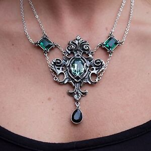 GENUINE-Alchemy-Gothic-Pendant-Queen-Of-The-Night-Ladies-Fashion-Necklace