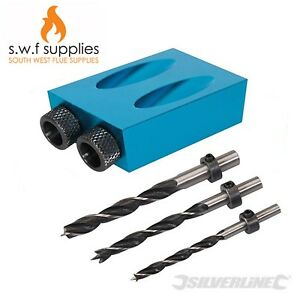 Silverline-Pocket-Hole-Screw-Jig-with-Dowel-Drill-Set-Carpenters-Wood-Joint-Tool