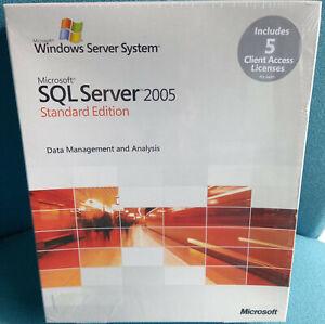 Microsoft SQL Server 2005 Standard - 5 Cal, Englisch, 32 Bit, 228-04029, NEUWARE