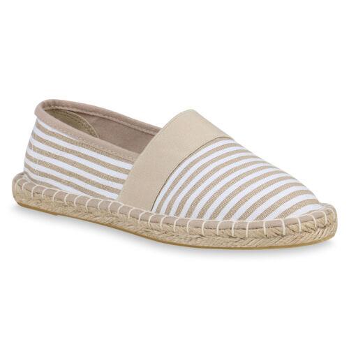 895258 Damen Espadrilles Bast Slippers Prints Freizeit Schuhe Slip Ons Trendy