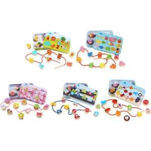 Wooden-Toys-Kids-DIY-Cartoon-Stringing-Threading-Beads-Educational-Games-Toy