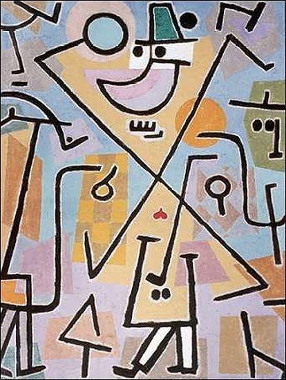 Paul Klee  Caprice in February Keilrahmen-Bild Leinwand abstrakt Klassiker