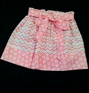 Baby & Toddler Clothing Girls' Clothing (newborn-5t) Meloney's Design Handmade Girl Pink Chevron 4t Skirt Professional Design