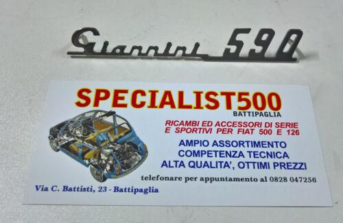 FIAT 500 F//L//R SCRITTA GIANNINI 590 CROMATA CRUSCOTTO IN METALLO CROMATO