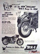1955 Motor Cycle ADVERT - B.S.A. '350cc OHV Model B.31' Print AD