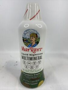 NEW - Mary Ruth's Liquid Nighttime Multimineral Sleep Aid, Pineapple Dream, 32oz