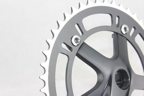 Fixed Gear 46T Crank Set  Bike Bicycle Aluminum Chainwheel Crank Set Single