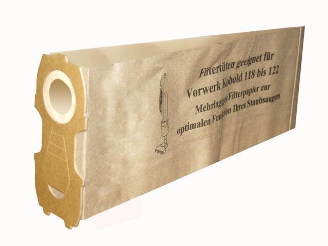 30bcc2e83 10-30 Bolsa con Filtro para Aspirador Adecuado para Vorwerk Kobold 118-122  Papel
