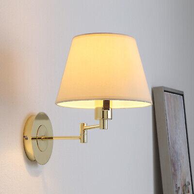 Stoff-Wandleuchte Pola Ausziehbar Stoffschirm Hell Lampenwelt Wandlampe Flur