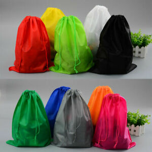 Travel-Pouch-Waterproof-Laundry-Shoe-Tote-Drawstring-Storage-Bag-Sundries-Box-BE